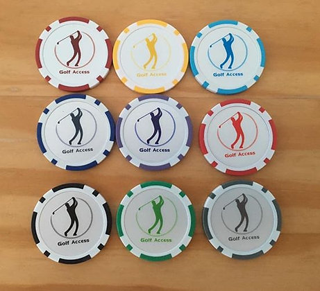 Golf Access Poker Chip Ball Markers