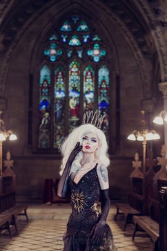 Photography, edit: ClickClickBang Photography http://www.clickclickbang.co.uk/ Outfit: Holly Rafaela Crown: Pendulous Threads Wig: Wigs and Grace MUA: Myself Location: Todmorden Unitarian Church