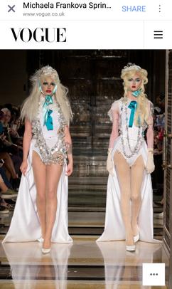 London Fashion Week SS18 for Michaela Frankova - Vogue feature