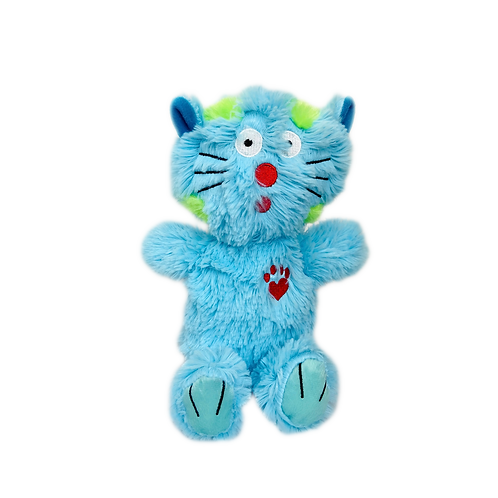 Multipet Bowzers and Meowzers™ Maximum Cat Squeaky Plush Dog Toy, Large