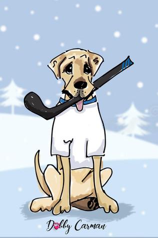 hockey dog