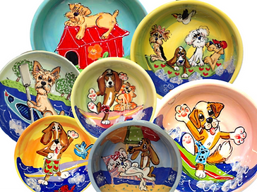 Ceramic Pet Bowls Personalized