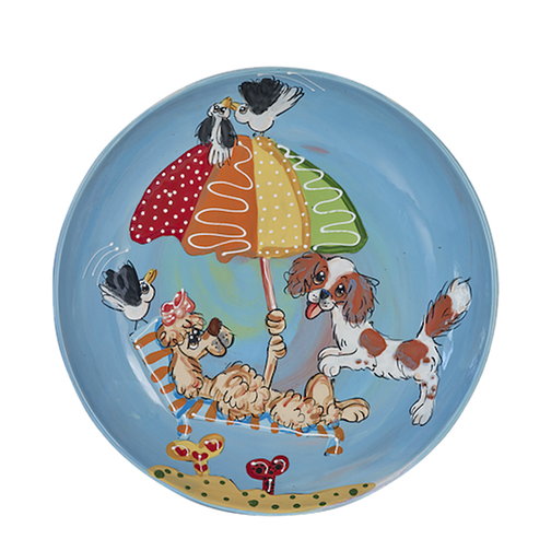 Beach Day Blue Dog Plate.png