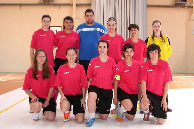 Equipo femenino temporada 12/13 F. S. Pedrajas