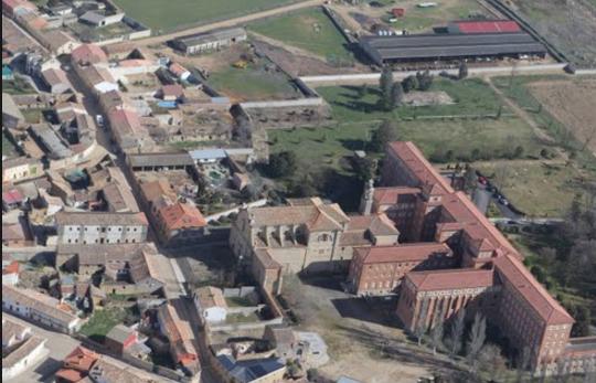 Vistas de Villagarcía de Campos desde el cielo