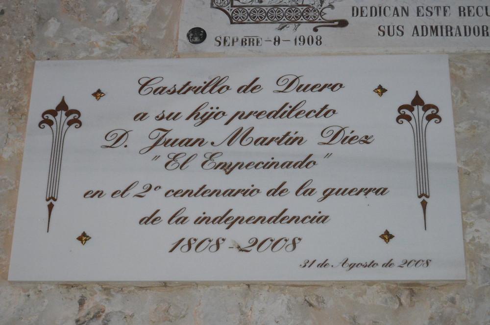 Placa en honor al Empecinado
