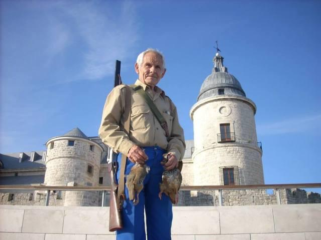 Paco Larita en el castillo de Simancas