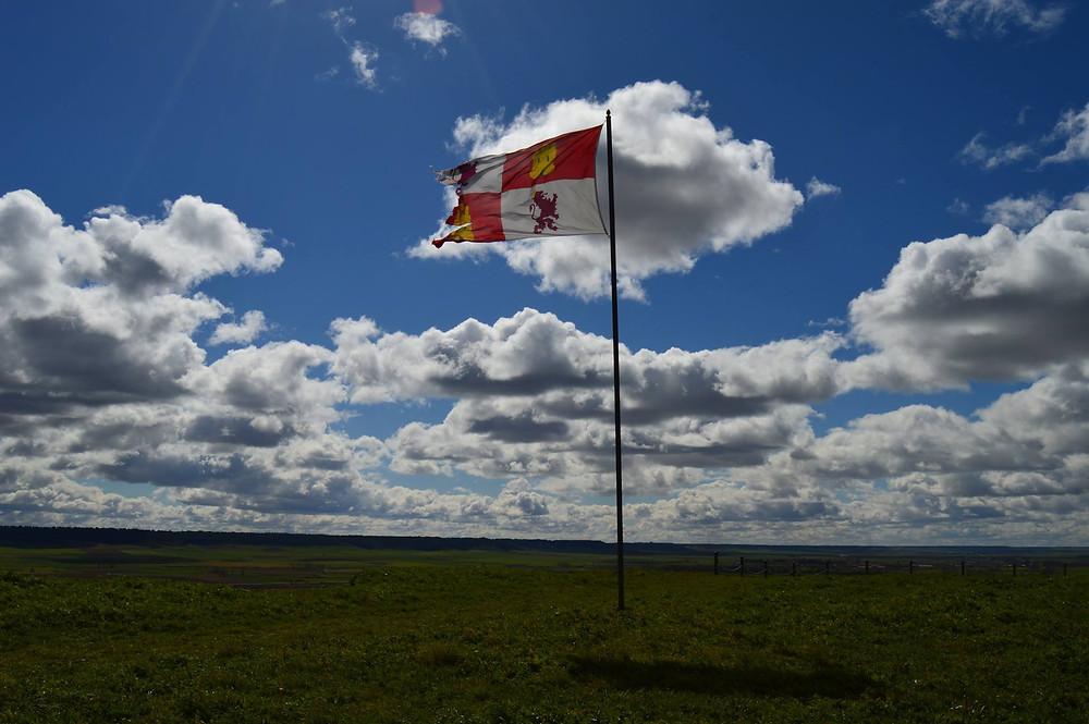 Bandera de Castilla y León en Tordehumos