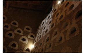Interior de un palomar