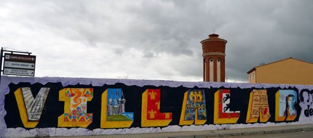 Mural en Villalar de los Comuneros