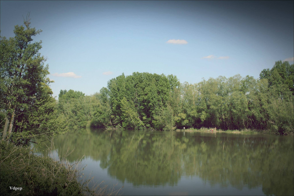 Río Duero a su paso por Villamarciel