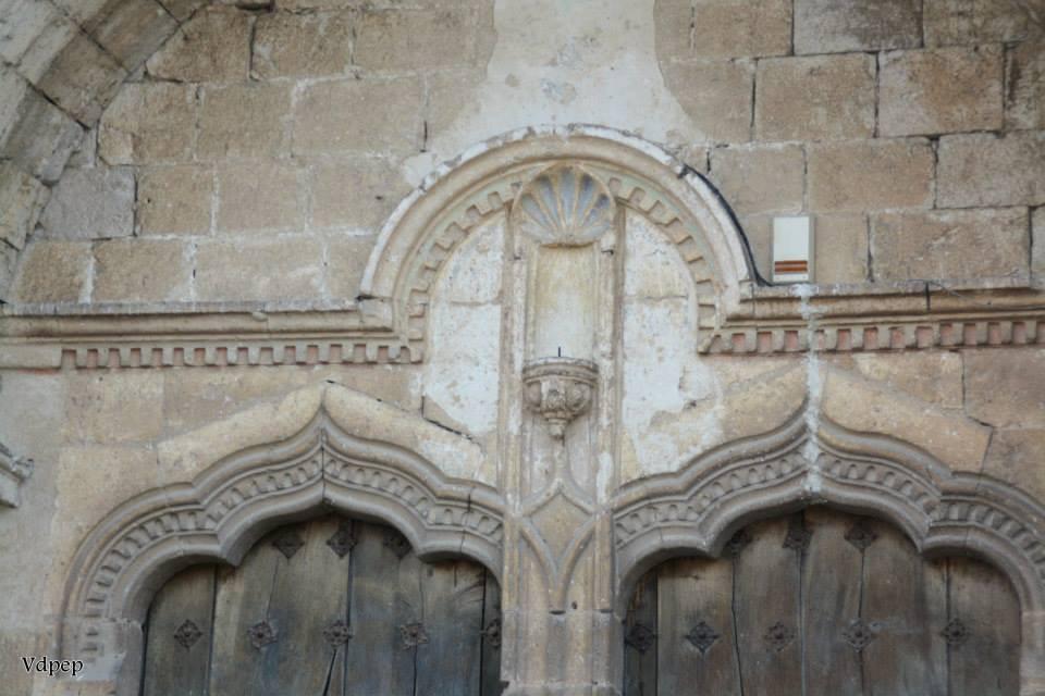 Detalle de la portada de la Iglesia del Salvador de Simancas