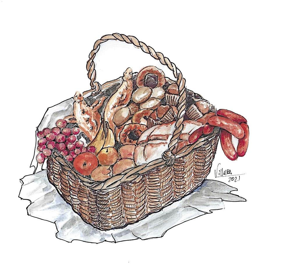 Tradición de la Pascua: las viandas de la colación de Cuéllar
