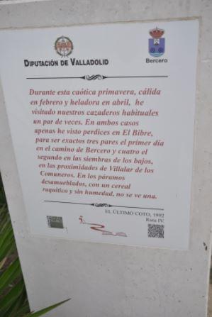 Monolito Ruta Delibes Bercero