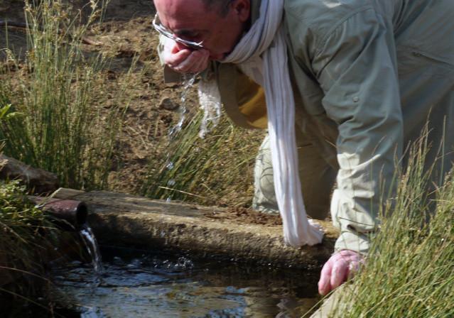 Fuente en el río Valderaduey. Foto tomada por Esteban Burgos
