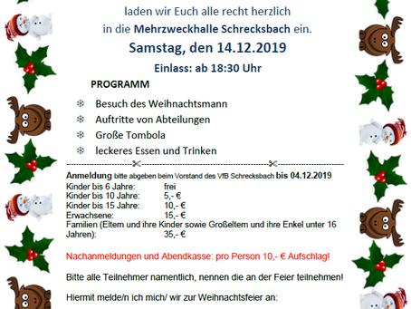 VfB-Weihnachtsfeier 14.12.2019