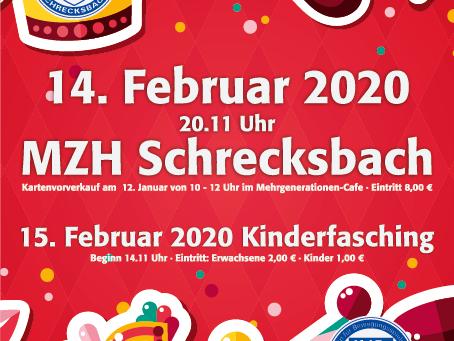 Es ist wieder Fasching in Schrecksbach!