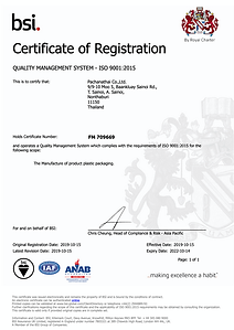 ISO 9001:2015 Certificate from bsi.