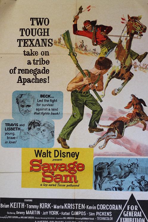 Savage Sam -one sheet poster