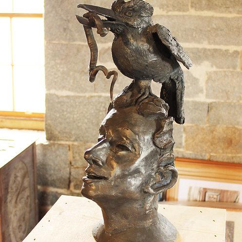 419 Kookaburra Woman, bronze, Antony Symons