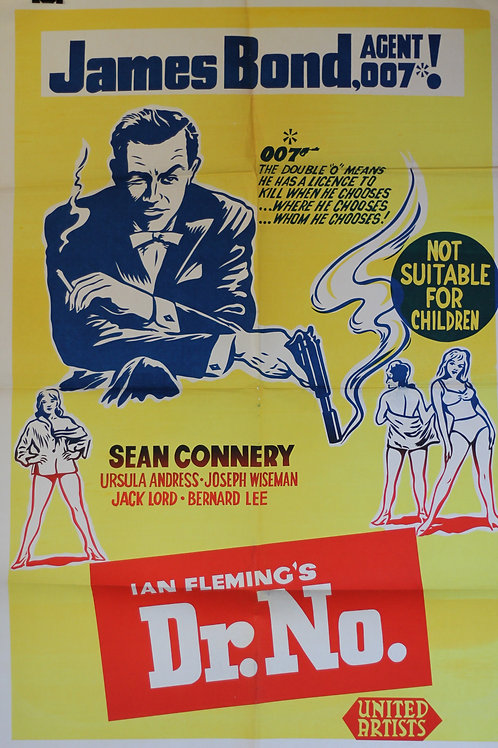 James Bond Dr No - one-sheet poster