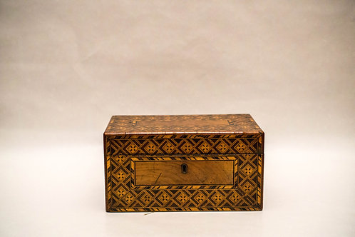 A George III Tunbridge ware tea caddy