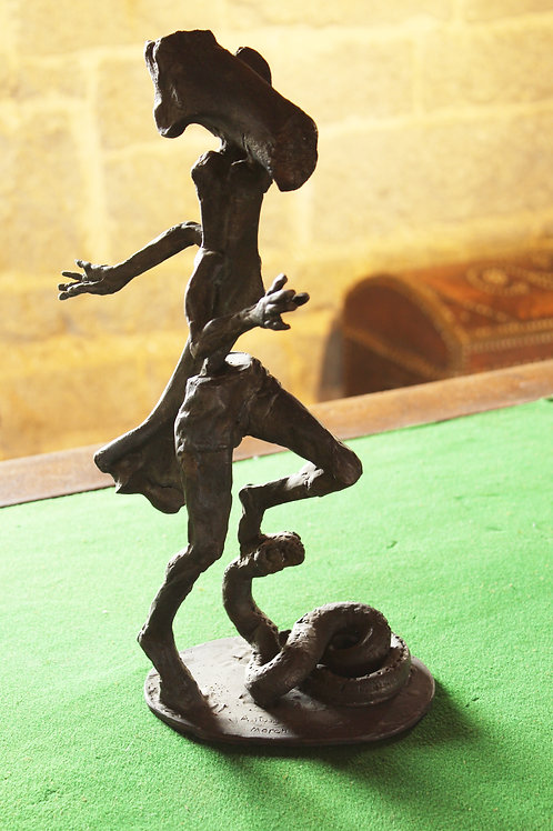 422 Running Figure with Bones, bronze
