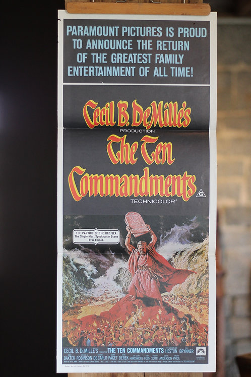 The Ten Commandments - daybill