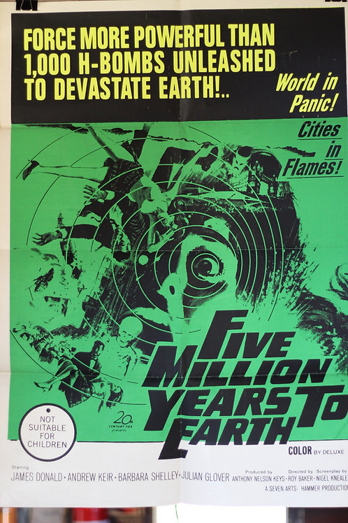 Five Million Years to Earth - one-sheet poster
