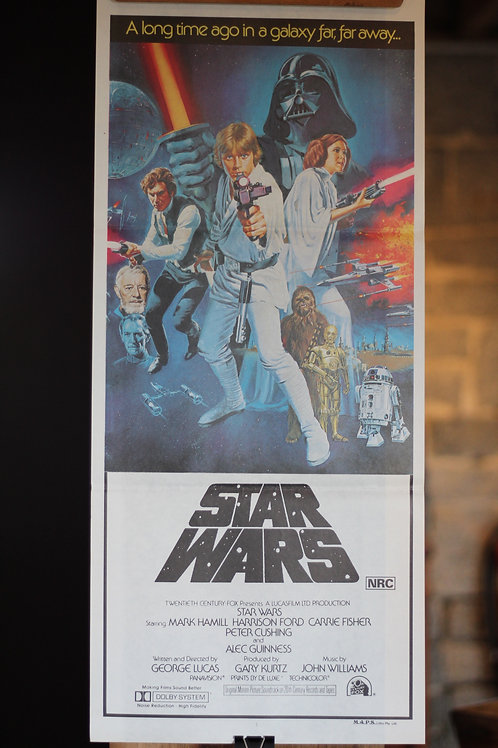 Star Wars - rare 1977 daybill