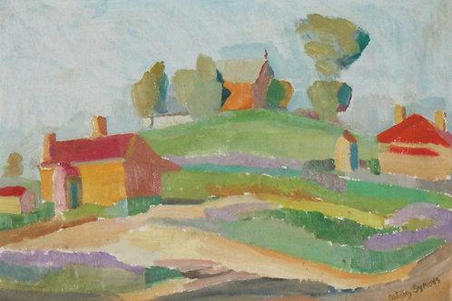 194 Rydal Landscape, oil on board, 45 x 33cm