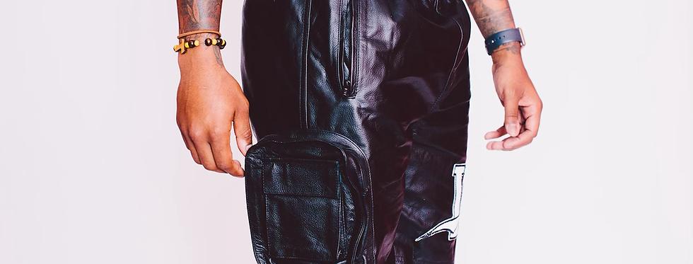 Leather Utility Shorts