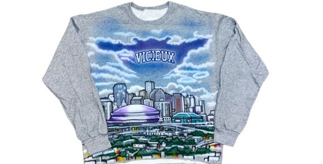 New Orleans Airbrushed Crewneck