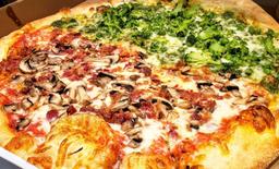 Mushroom and Broccoli Pizza