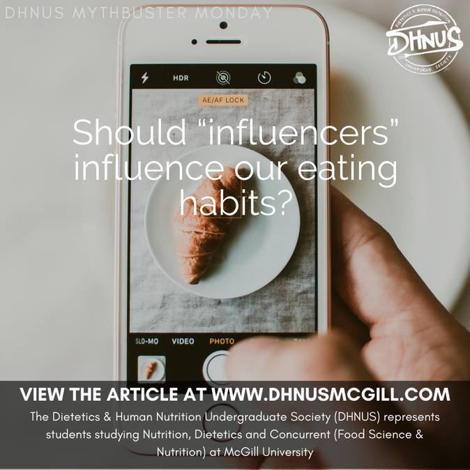 "Should ""Influencers"" Influence our Eating Habits?"
