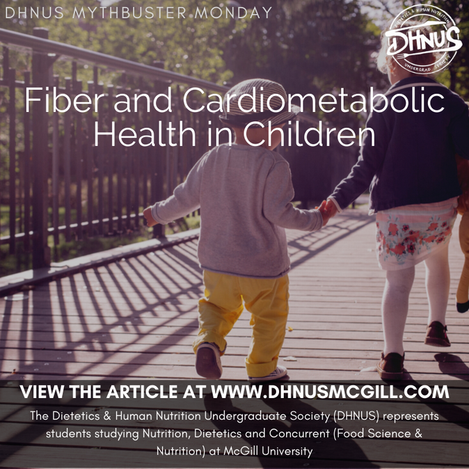 Fiber and Cardiometabolic Health in Children