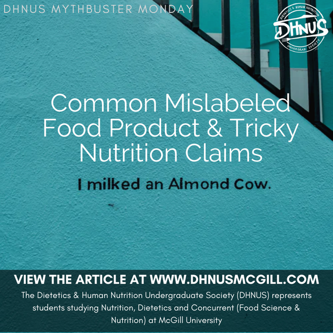 Common Mislabeled Food Product & Tricky Nutrition Claims
