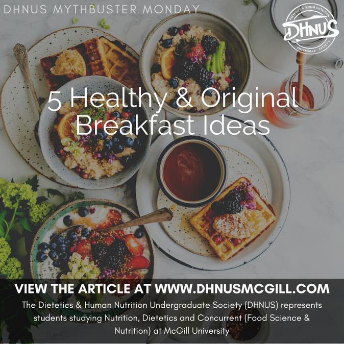 5 Healthy & Original Breakfast Ideas