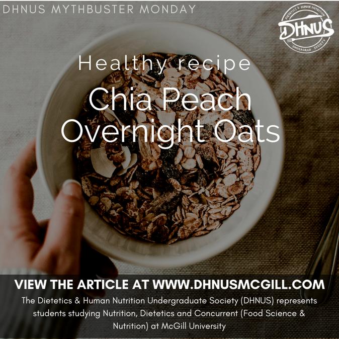 Healthy recipe: Chia Peach Overnight Oats