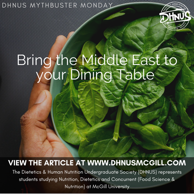 Bring the Middle East to your Dining Table