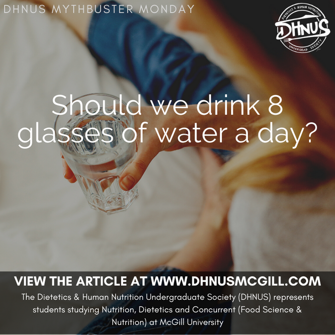 Should we drink 8 glasses of water a day?