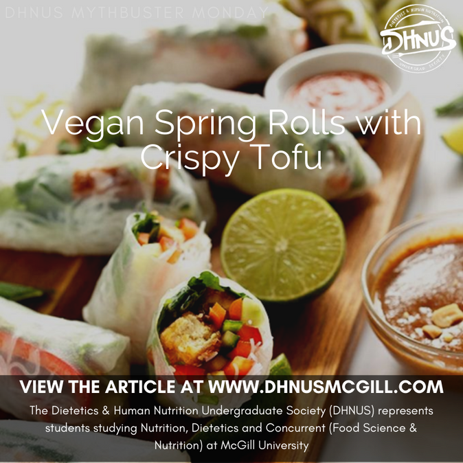 Vegan Spring Rolls with Crispy Tofu