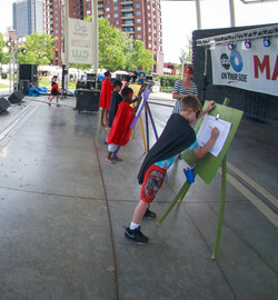 Main_Stage artists at easels5
