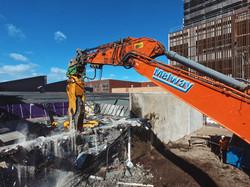 Excavator Arm with pulveriser attachment