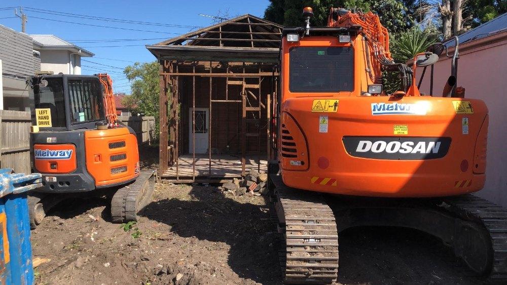 Partial demolition in Yarraville