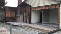 Partial demolition in Deepdene