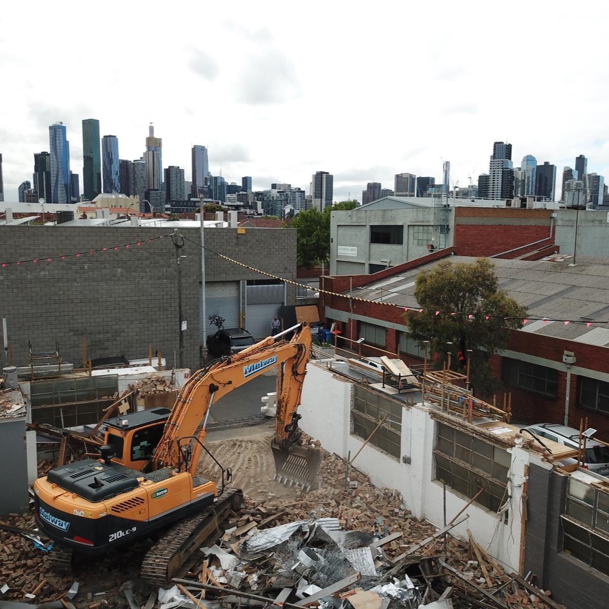 Factory Demolition in North Melbourne
