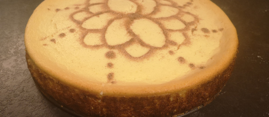 Guilt Free Marzipan Cinnamon Cheesecake