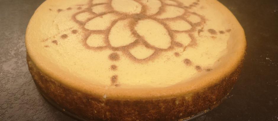 Guilt Free Marzipan Cinnamon Cheesecake
