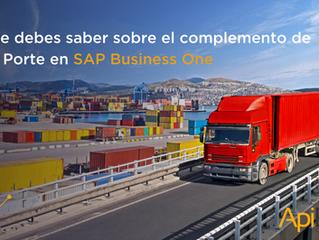 ¿Cómo se creará el complemento carta porte desde SAP Business One?